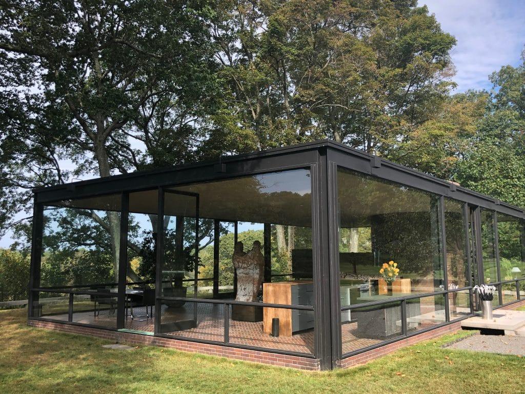 NEW CANAAN, The Glass House - La maison en verre Par Philip Johnson à New Canaan, Connecticut